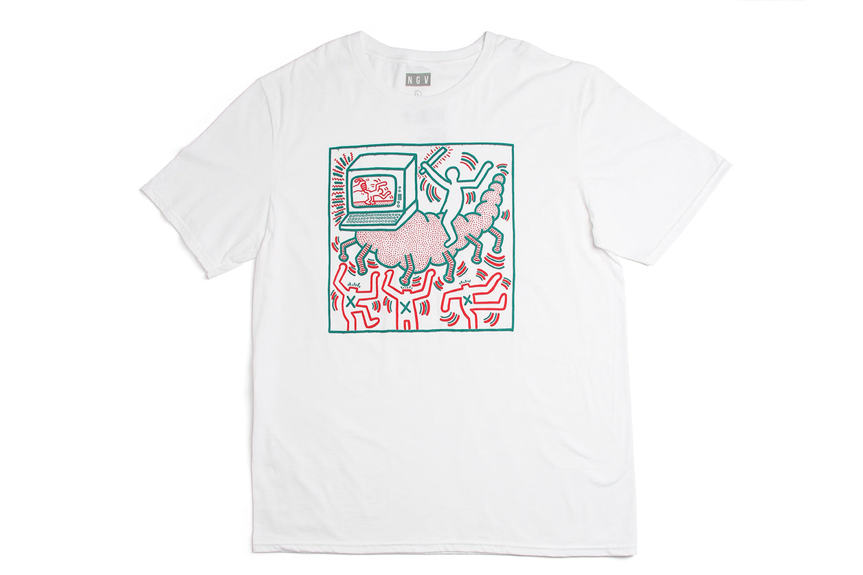 T-Shirt White Keith Haring