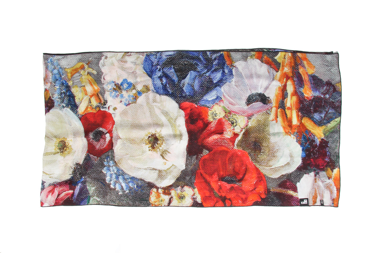 Scarf Spring flowers Silk Satin