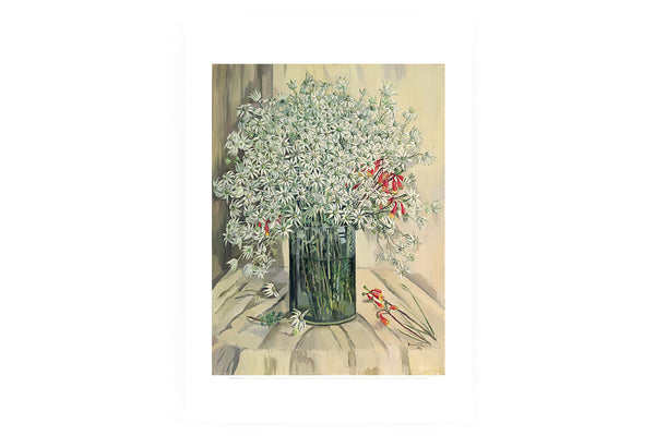 Poster Margaret Preston Flannel flowers