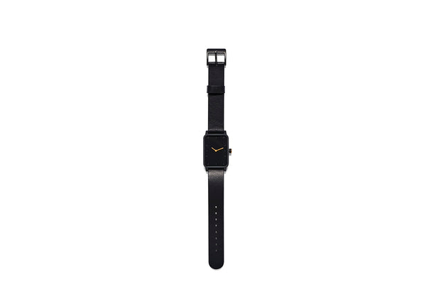 Watch #3 Rectangle Black Black 38mm