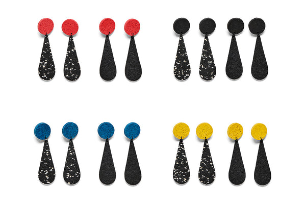 Earrings Piet Drops Assorted Colours