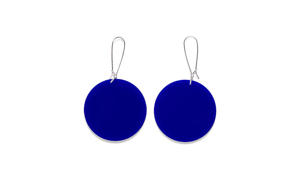 Earrings Small Full Circle 5cm - Plain