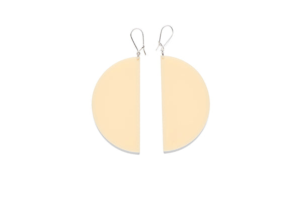 Earrings Large Half Circle 7.5cm - Plain