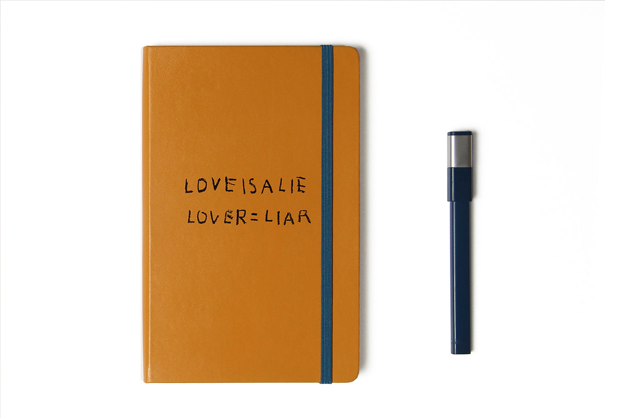 Notebook Set Love is A Lie With Pen Basquiat