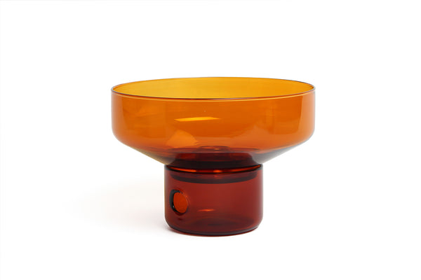 Glass Oil Burner Milligram Orange