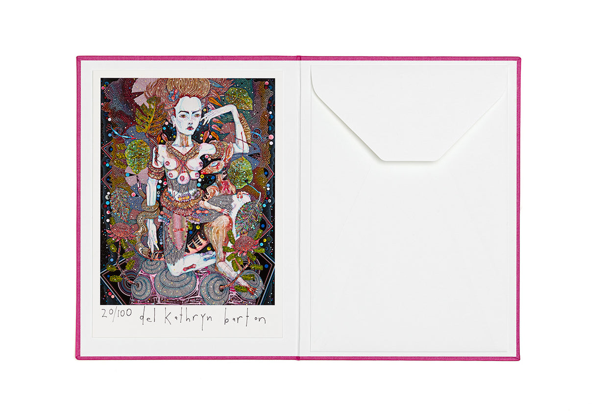 Del Kathryn Barton: The Highway is a Disco Limited Edition Art Book with Inkjet print by Del Kathryn Barton.