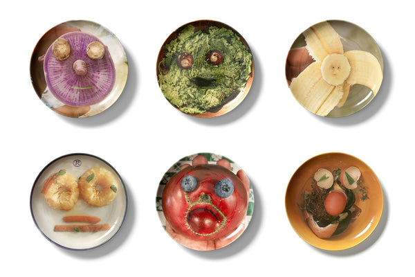 Olaf Breuning Food Face Limited Edition Set of 6 Plates