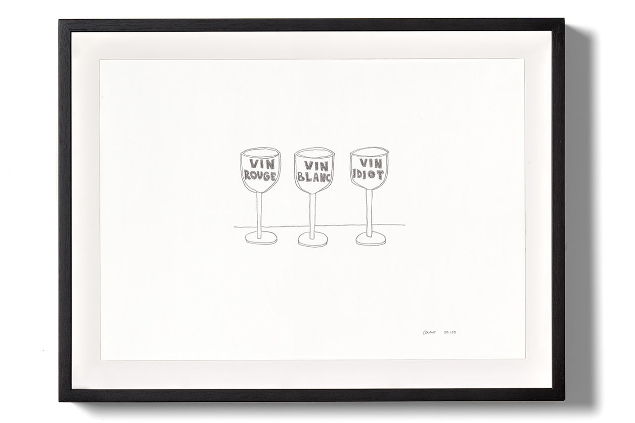 Olaf Breuning, Vin Idiot Limited Edition Print