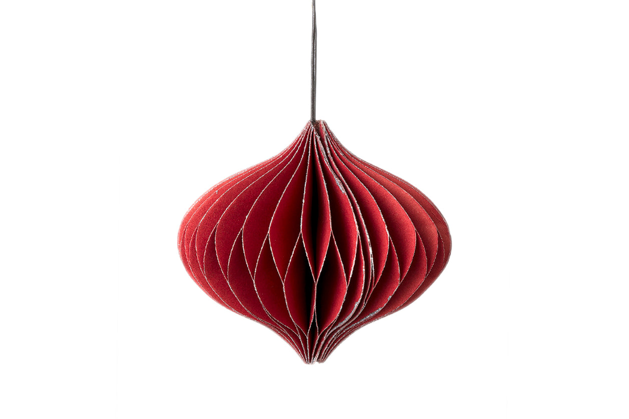 Nordic Rooms Paper Ornament Onion Red