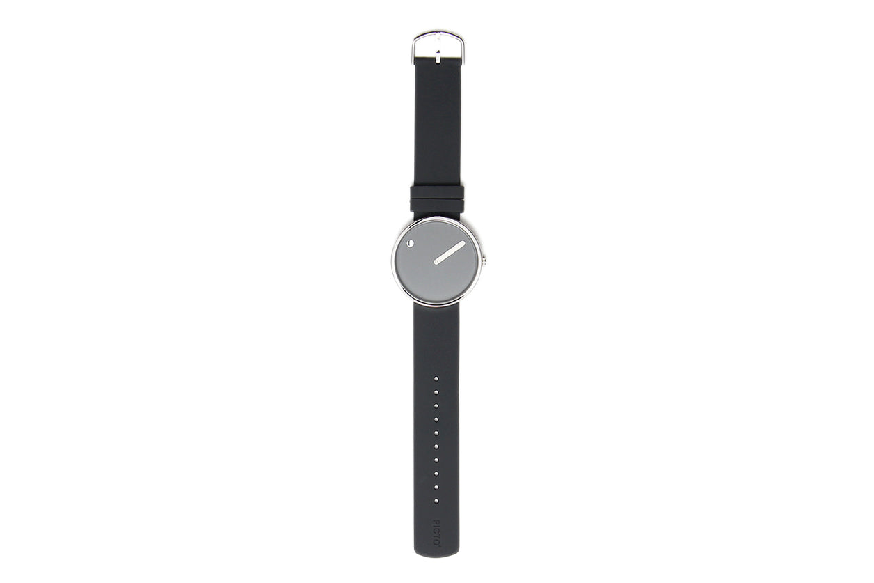 Watch Steel silicone 40 mm Grey