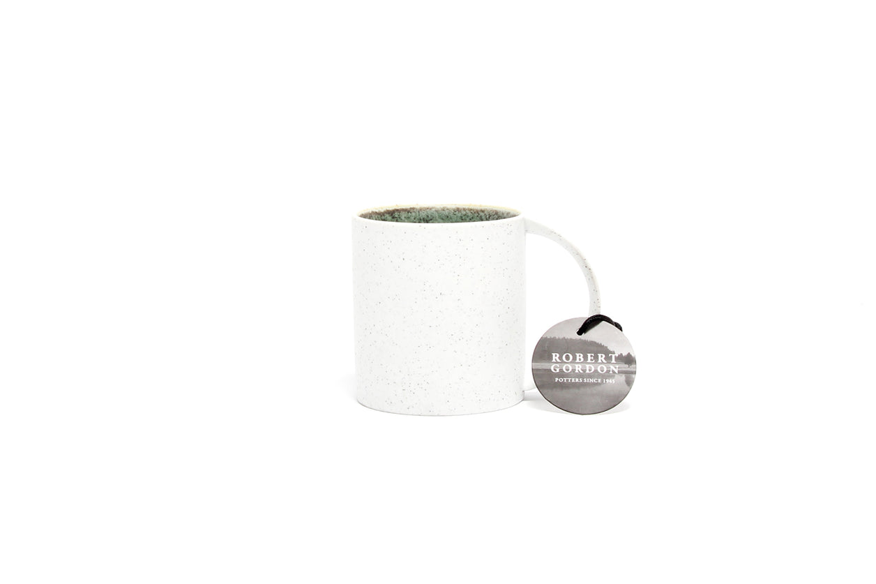 Mug Terrain White Green Speckle