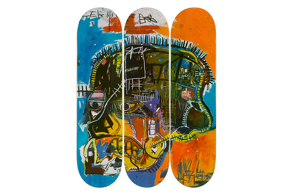 Jean-Michel Basquiat Skull Skateboard Set