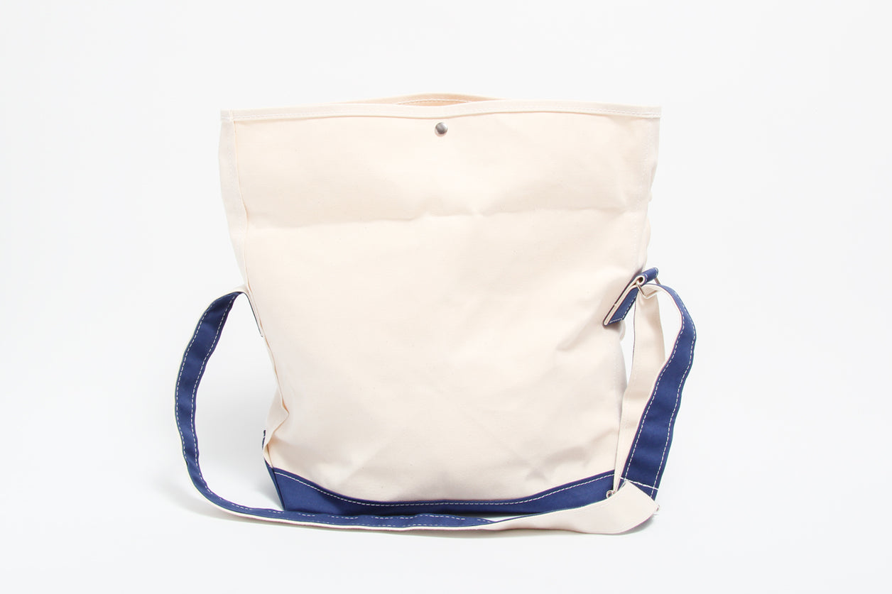 Tembea Messenger Bag Natural and Navy