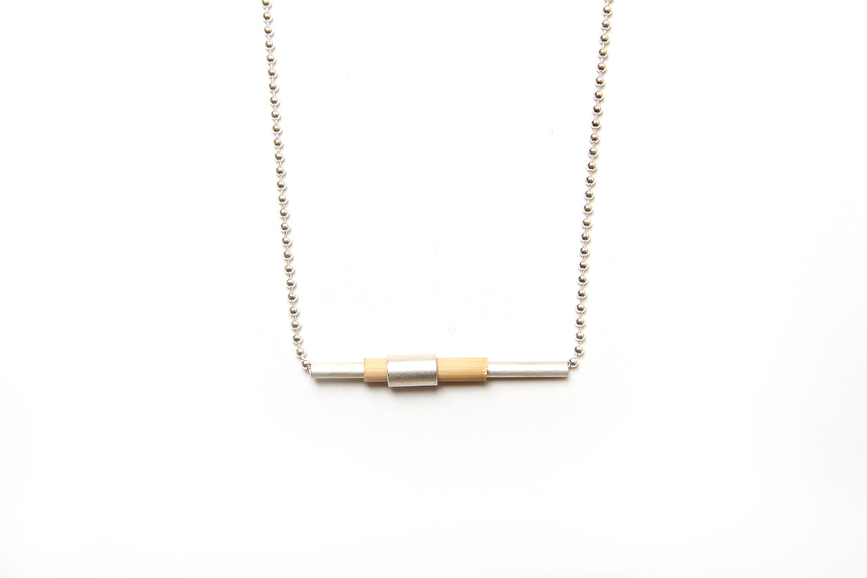 Cassie Leatham 5% Silver Reed Necklace