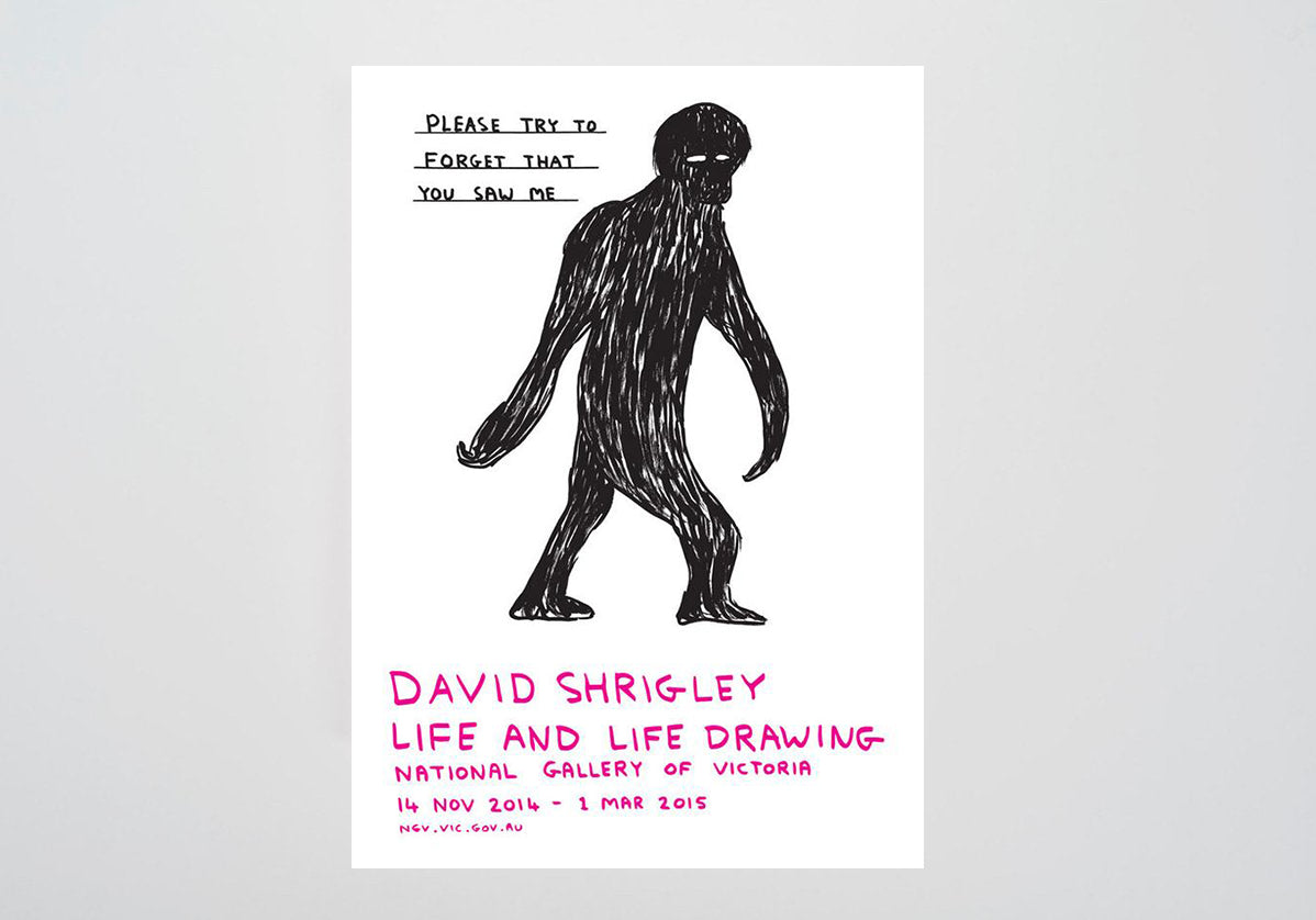 David Shrigley, Please Try To Forgot That You Saw Me (2014) Signed Print