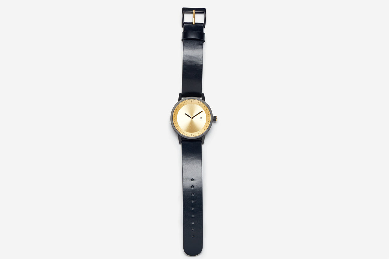 Simple Watch Co. Dixon Black Band and Face Rose Gold 42mm