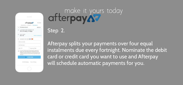 Afterpay payment method slide 2