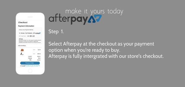 Afterpay payment method slide 1