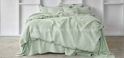Pure linen quilt covers and bed sheets