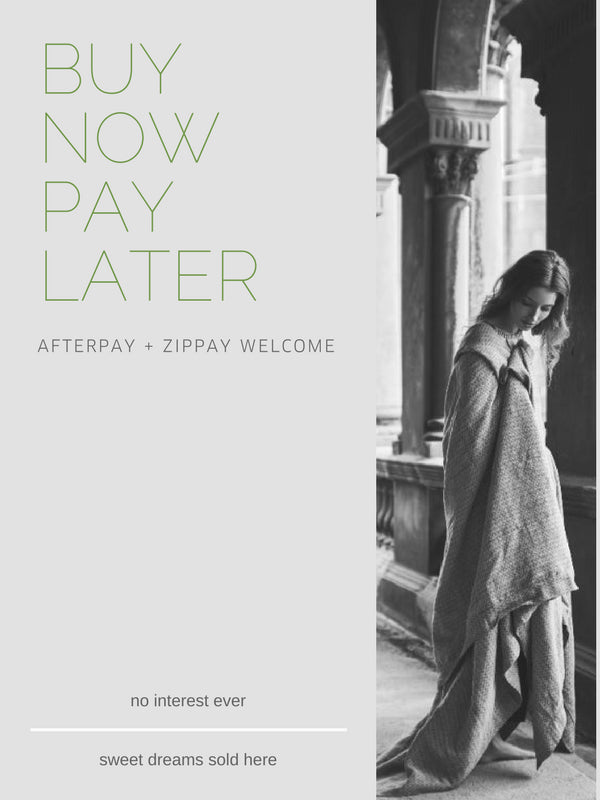 Afterpay + Zippay welcome. buy now, pay later