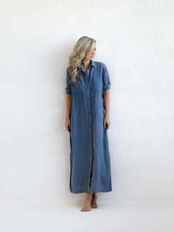 Maxi Shirt Dress-Clothing-Sheets on the Line