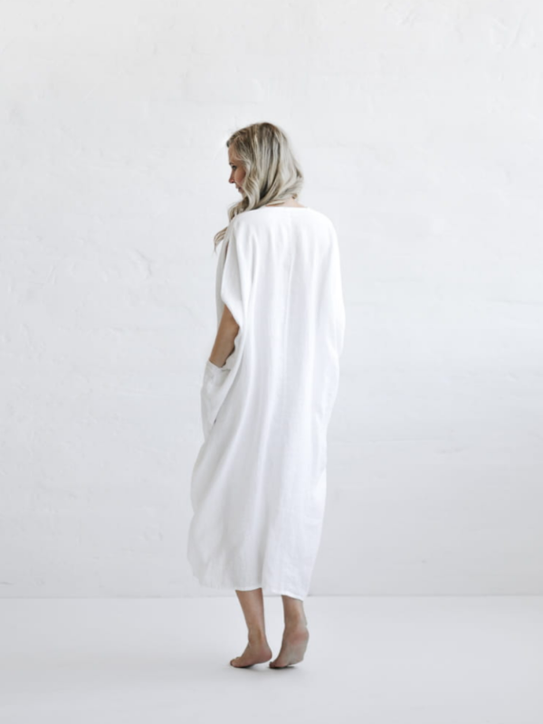 Drawstring Waist Dress-Clothing-Sheets on the Line