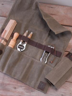 Waxed Canvas Utility Roll-Garden Accessories-Sheets on the Line