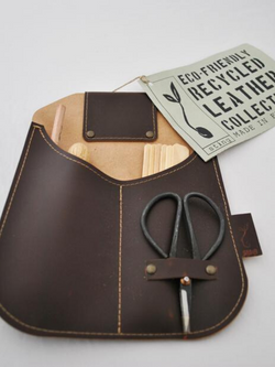 Leather Gardeners Collection Pouch-Garden Accessories-Sheets on the Line