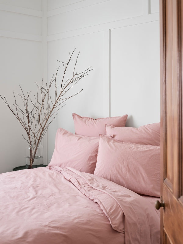 Crushed Cotton - Grevillea-Bed Linen - Cotton-Sheets on the Line