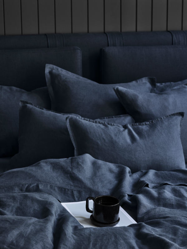 Deep Sea - bed linen-Bed Linen - Pure Linen-Sheets on the Line