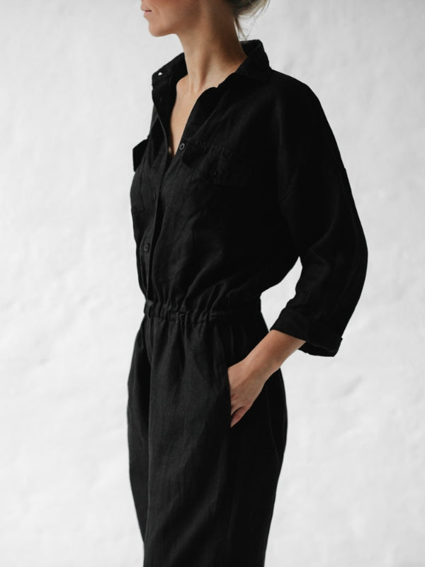 Linen Playsuit-Clothing-Sheets on the Line