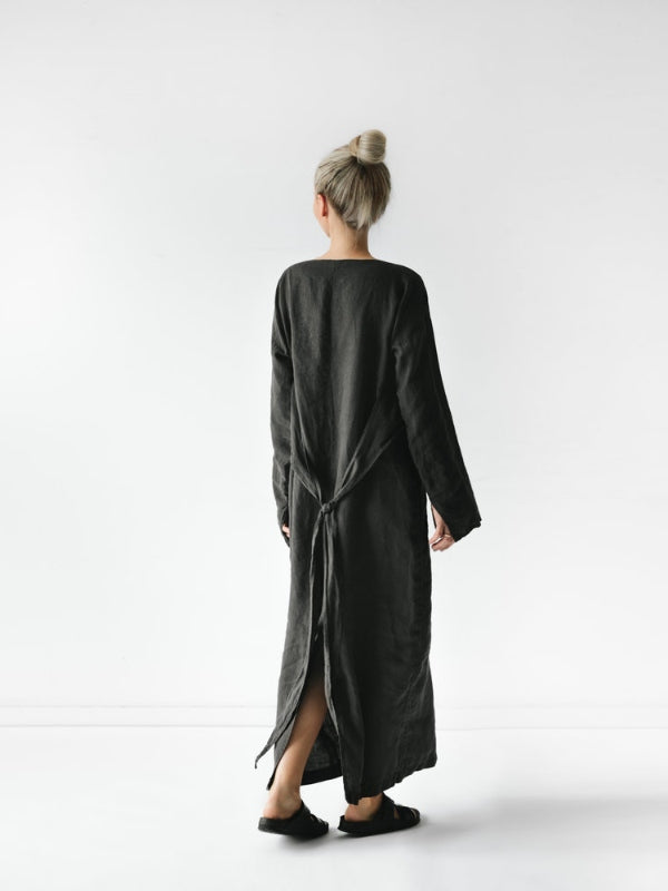 Belted Long Sleeve Dress-Clothing-Sheets on the Line