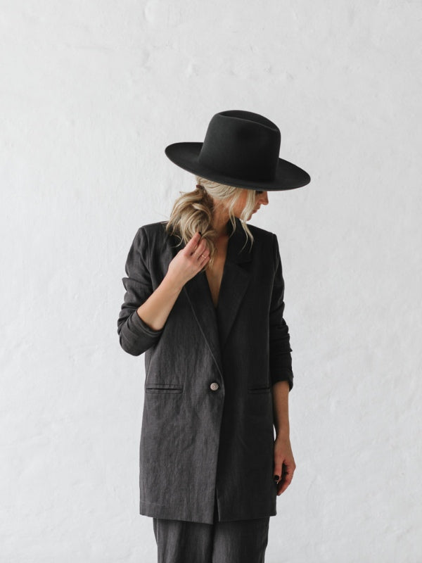 Linen Blazer-Clothing-Sheets on the Line