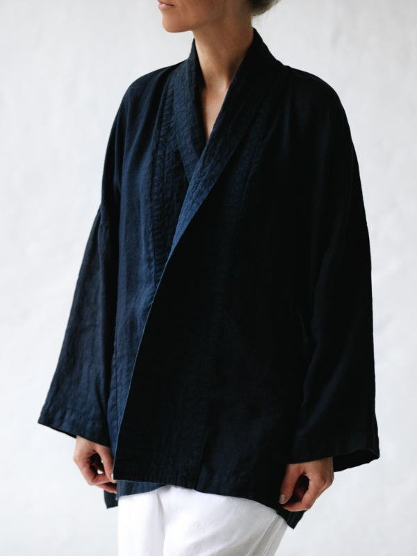 Linen Kimono Jacket-Clothing-Sheets on the Line