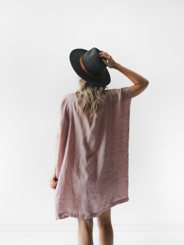 Short Linen Dress-Clothing-Sheets on the Line