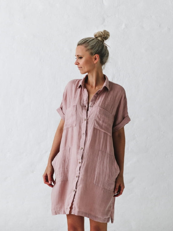 Linen Tunic-Clothing-Sheets on the Line
