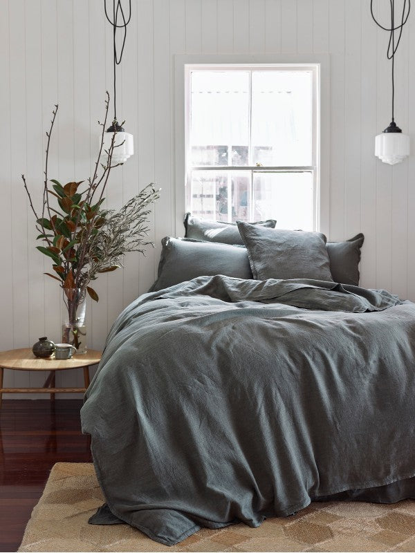 Eucalyptus - pure linen-Bed Linen - Pure Linen-Sheets on the Line