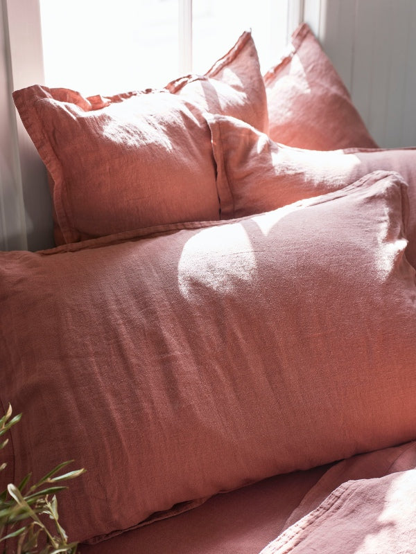 Rose Clay - pure linen-Bed Linen - Pure Linen-Sheets on the Line