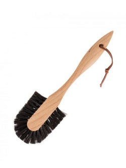 Dish Brush with Leather Strap-Cleaning Goods-Sheets on the Line