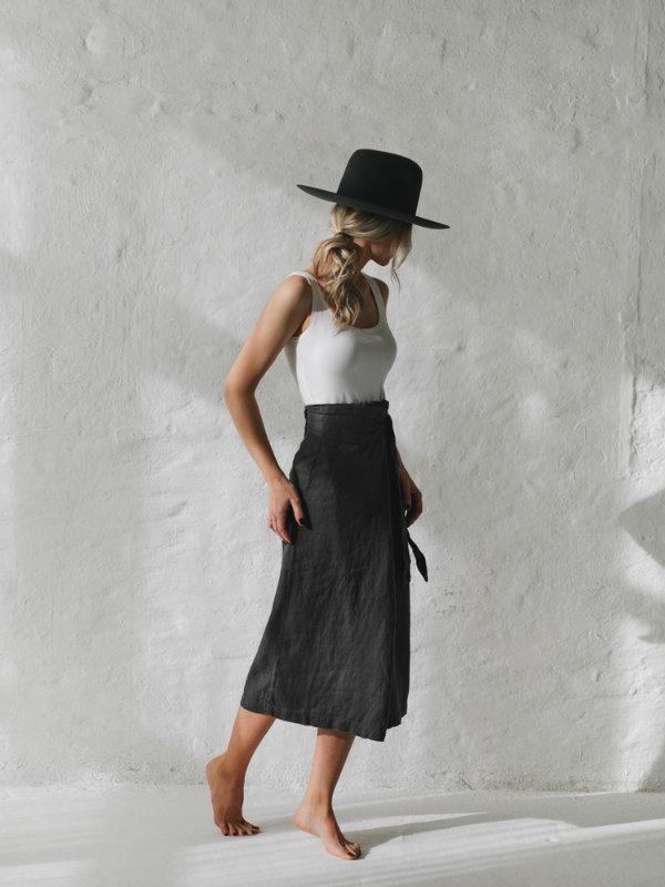 Belted Skirt - Sheets on the Line