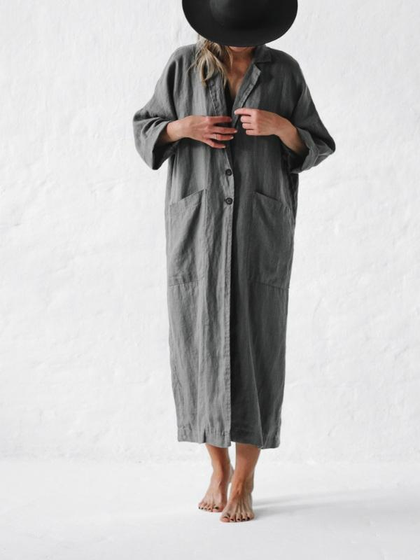 Linen Coat-Clothing-Sheets on the Line