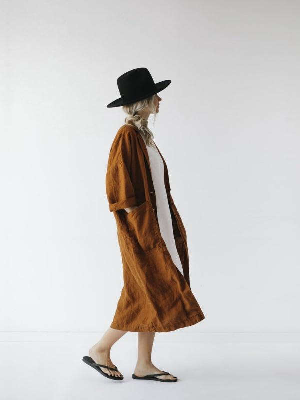 Linen Coat - Sheets on the Line