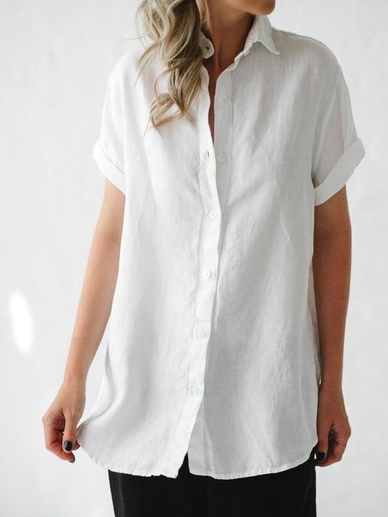 Short Sleeve Shirt - White - Sheets on the Line