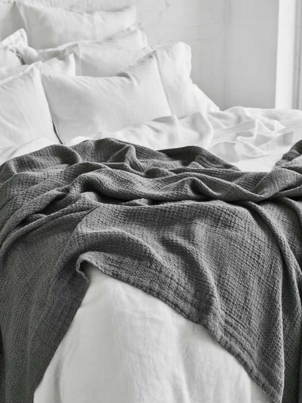 Sheets on the Line Blanket/Throw Linen Waffle Blanket