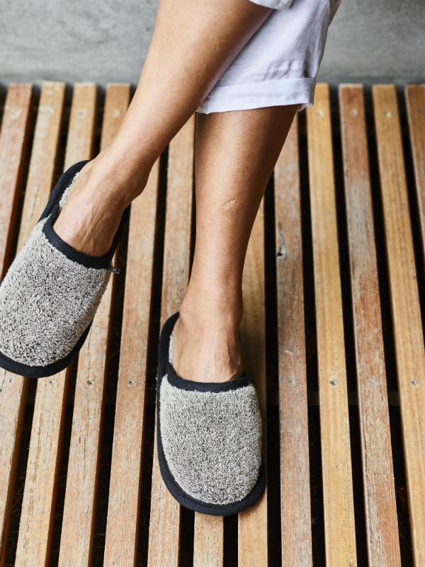 Natural Linen Slippers - Sheets on the Line