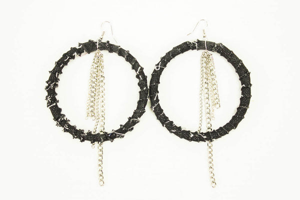 Denim Is Power Earrings (Large)
