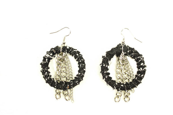 Denim Chic Earrings (Small)