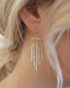 Waterfall Feather Earrings