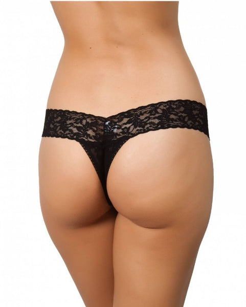 Low Rise Thong - Black