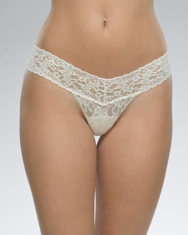 Low Rise Thong - Ivory